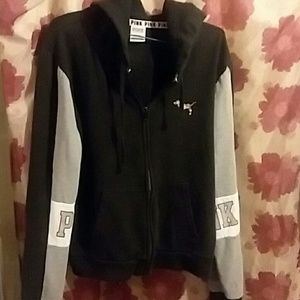 Vs pink blingy full zip
